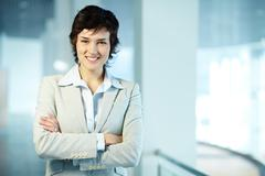 Image of formal businesswoman looking at camera Stock Photos