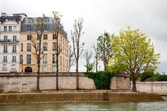 ile saint-louis, paris, france - stock photo