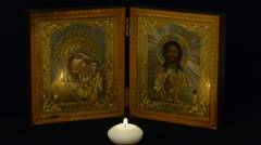 Russian orthodox icon Stock Footage
