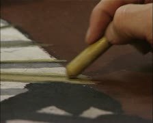 Outsider Art - Art Brut - hand drawing with a crayon Stock Footage
