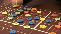 Casino roulette gamble game - stock footage