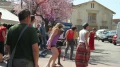Village life dancing Stock Footage