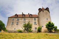 Gruyeres castle, fribourg canton, switzerland Stock Photos