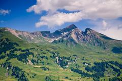 Mountains in the canton of bern in switzerland Stock Photos