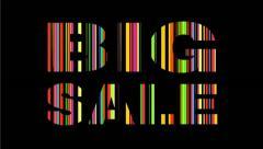 Big Sale text Stock Footage