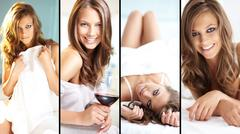 Posh young woman posing in front of camera Stock Photos