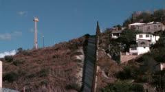 Nogales Mexico border wall - stock footage
