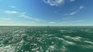 Tanker in the ocean Stock Footage