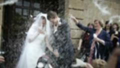 Wedding celebration Stock Footage