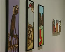 Art, Outsider Art - Art Brut - Exhibition at the House of art Munich Stock Footage