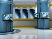 Stock Illustration of virtual set studio tv chroma