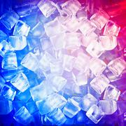 Background with ice cubes in blue light Stock Illustration