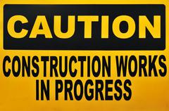 Caution Signage - stock photo