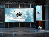 Virtual set studio tv chroma Stock Illustration
