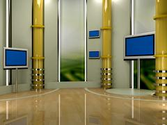 virtual set studio tv chroma - stock illustration