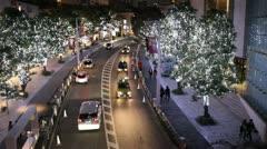 Roppongi Hills Christmas illumination Stock Footage