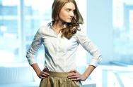 Stock Photo of image of gorgeous woman in smart casual looking aside