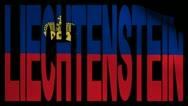 Liechtenstein text with fluttering flag animation Stock Footage