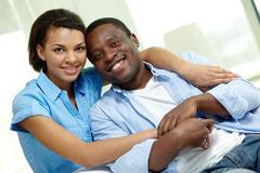 Amorous couple - stock photo