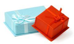 Small gift boxes Stock Photos