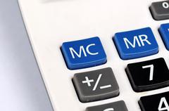 Buttons of calculator Stock Photos