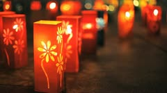 Festive lanterns Stock Footage