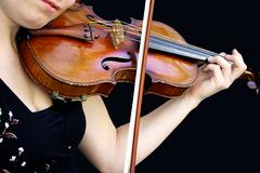 Playing the violin Stock Photos