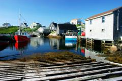 picturesque fishing village - stock photo