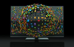 3dtv television concept Stock Illustration