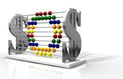 Sos debt abacus Stock Illustration