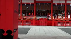 Fushimi Inari View Through Main Gate Stock Footage