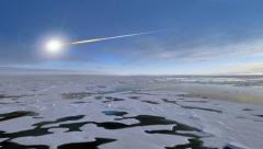 Russian meteor (meteorite) over Chelyabinsk in the Urals Stock Footage