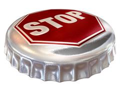 Capped limit stop sign cap Stock Illustration