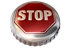 capped limit stop sign cap - stock illustration