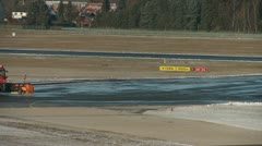 Winter service at a airport Stock Footage