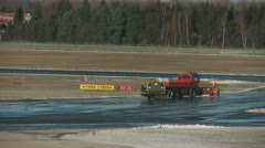 Winter services at airport Stock Footage