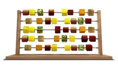 calorie counting - stock illustration