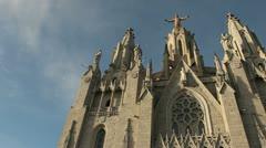 Church Sagrada Corazón in Barcelona Stock Footage