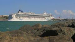 Cruise ship in san juan bay Stock Footage