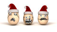 christmas eggs - stock illustration