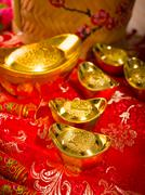gong xi fa cai , traditional chinese new year items - stock photo