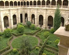Courtyard of 16th century Convent of San Marcos Stock Footage