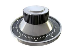 combination dial perspective - stock illustration