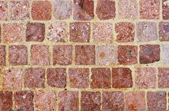 Checkered stonework Stock Photos