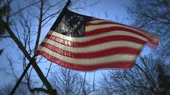 Betsy Ross Flag Stock Footage
