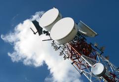 Telecommunications antennas Stock Photos
