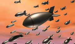 Dropping bombs Stock Illustration