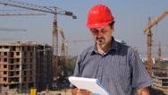 Construction engineer Stock Footage