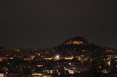 Athens at night Stock Photos