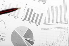 Variety of charts and diagrams Stock Photos